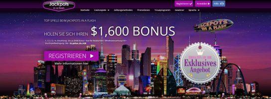Jackpots In A Flash Casino